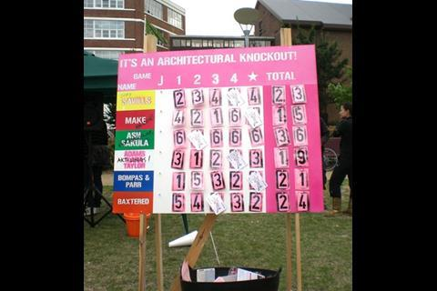 It's an Architectural Knockout scoreboard